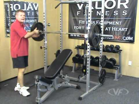 Valor Fitness BD-7 Power Rack w/ Lat Pull