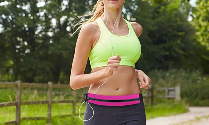 waist pack on women running